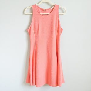 GINGER G Coral Sleeveless A-Line Dress   L
